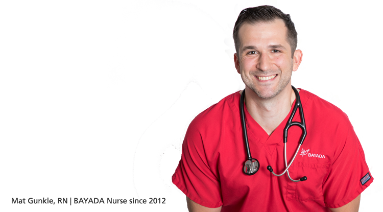 Mat Gunkle, RN | BAYADA Nurse since 2012