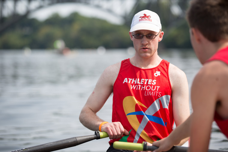 regatta rower in athletes without limts tank