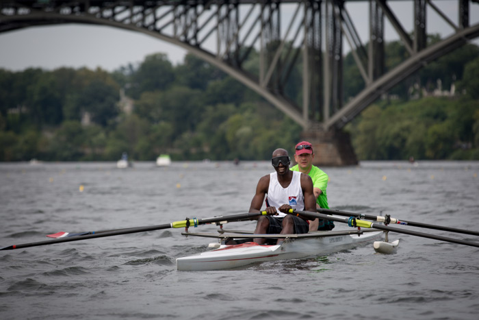 regatta rowers on the river